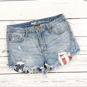 Mossimo high rise cutoff shorts American Flag 10